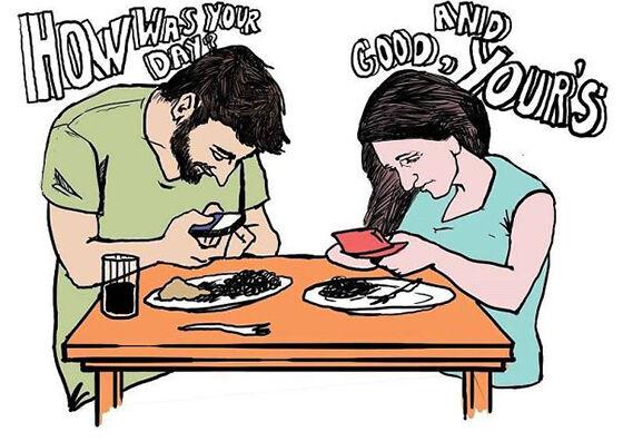 Ilustrasi Menyedihkan Dampak Smartphone 21