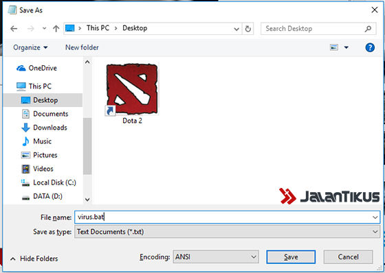 Cara Membuat Virus Di Notepad 3