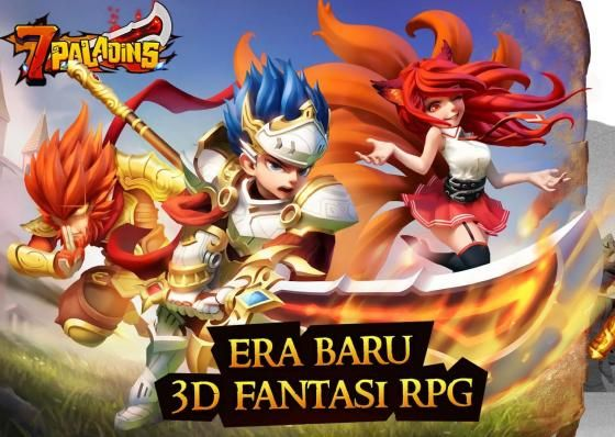 7 Paladin Game Rpg 3d Fantasi