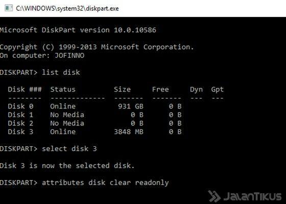 Cara Memperbaiki Flashdisk Write Protected 4