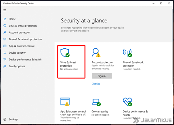 Cara Mematikan Windows Defender Windows 10 Settings 02 57cd5