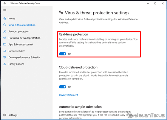 Cara Mematikan Windows Defender Windows 10 Settings 04 8ab4b