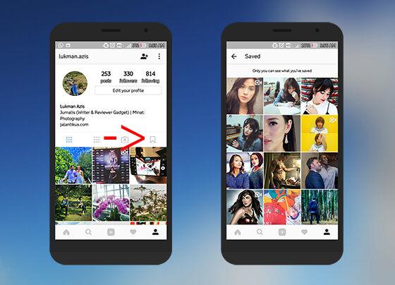 Cara Bookmark Instagram