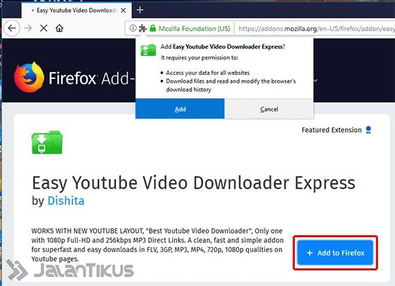 Cara Download Mp3 Dari Youtube Mozilla 01 63ee8