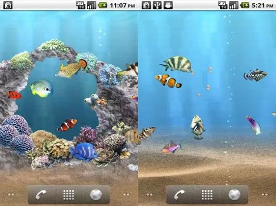 Wallpaper Aquarium 3D Bergerak 3 Acb00