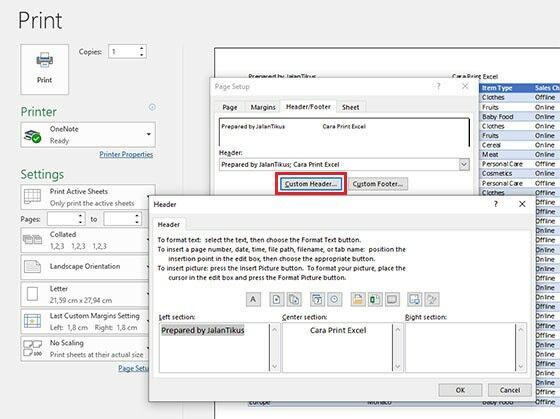Cara Print Excel Tidak Kepotong A9237