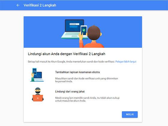Cara Aktifkan Verifikasi 2 Langkah Di Google