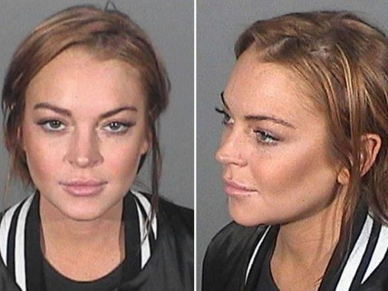 Lindsay Lohan Mugshot Artis Cilik Masuk Penjara Custom 61ff8
