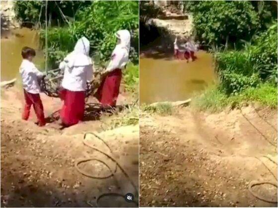 Viral Anak Sd Pakai Keranjang Terbang Seberangi Sungai Demi Bisa Pergi Ke Sekolah90 700 6c2ab