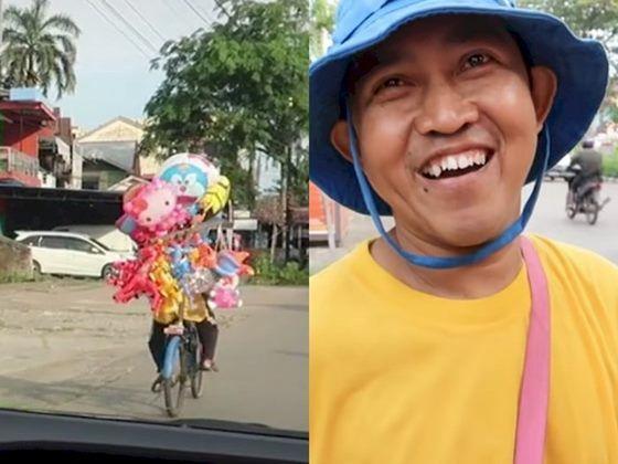 Viral Pria Lulusan S2 Yang Memilih Menjadi Penjual Balon Alasannya Bikin Sedih10 700 6fe79