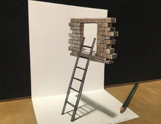 Gambar 3D Keren Di Kertas 5 987d5