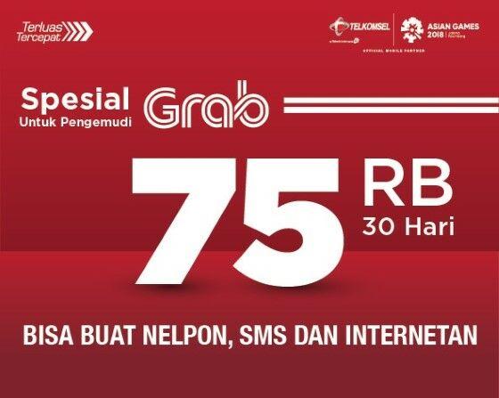 Paketan Grab Telkomsel A16db