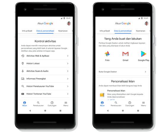 Pembaruan Akun Google 2 5dacc