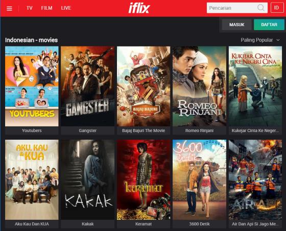Situs Nonton Film Indonesia Online (Streaming) Terbaik dan
