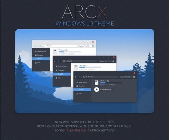 Download Theme Windows 10 Terbaik Tema Arcx B4f49
