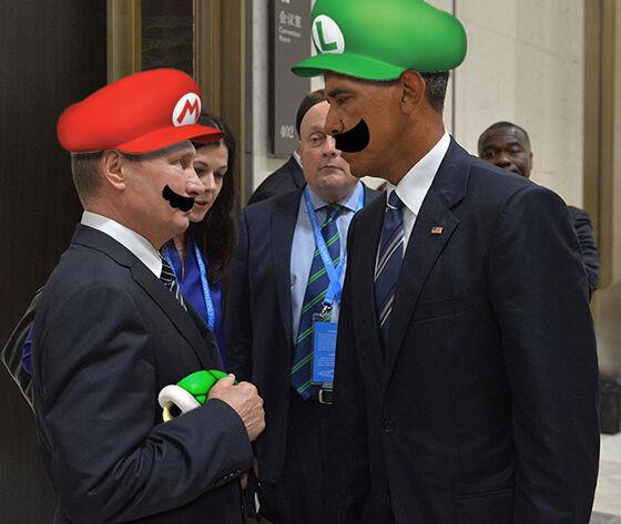 Foto Kocak Obama 9