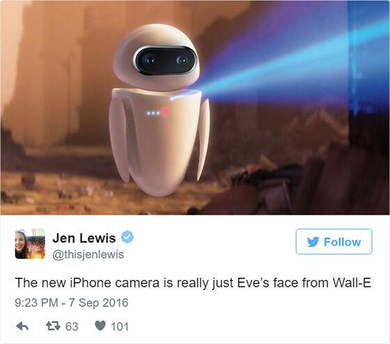 Dual Camera Iphone 7 Plus Terinspirasi Dari Matanya Robot Eve Dari Film Wall E