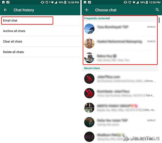 Cara Mengetahui via Menu Email Chat Langkah 3