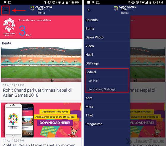 Cara Mengecek Jadwal Pertandingan Asian Games 2018 Aplikasi 02 B97e2