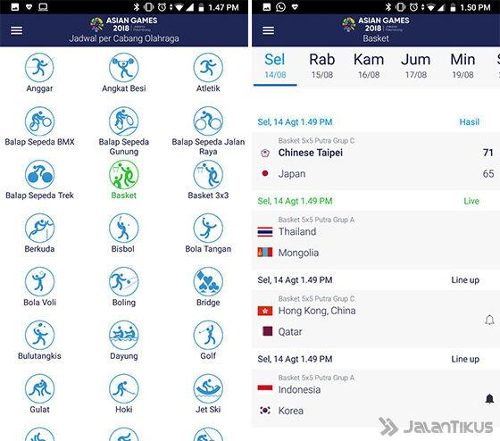 Cara Mengecek Jadwal Pertandingan Asian Games 2018 Aplikasi 04 F9881