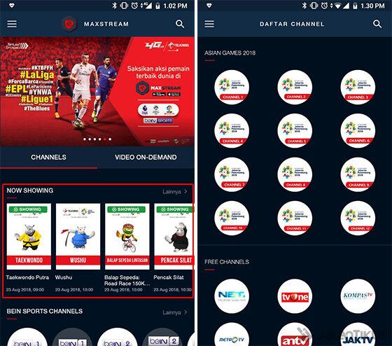 Cara Live Streaming Asian Games 2018 Maxstream 02 19936