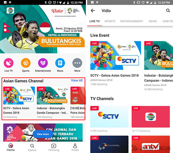 Live Streaming Sctv: Cara Live Streaming Pertandingan Asian Games 2018 (Vidio