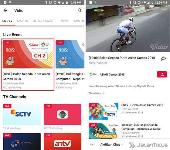 Cara Live Streaming Asian Games 2018 Vidio 03 Ecf04