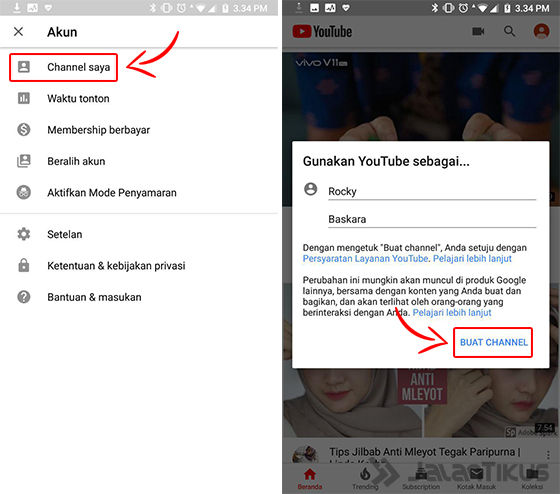 cara bikin channel youtube