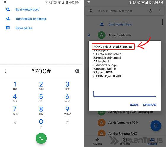 cara cek poin telkomsel dengan telepon