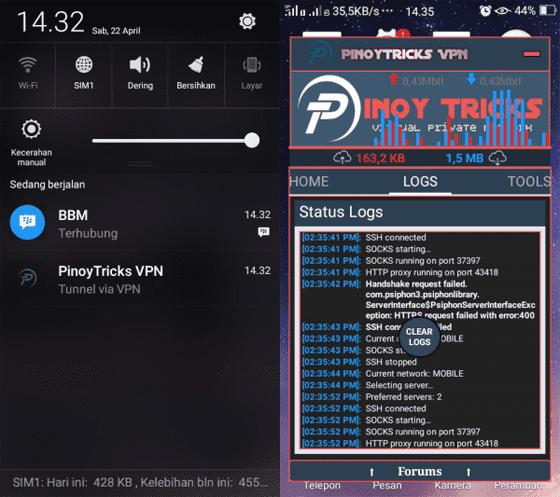 Cara Internet Gratis Dengan Pinoytricks Vpn 6