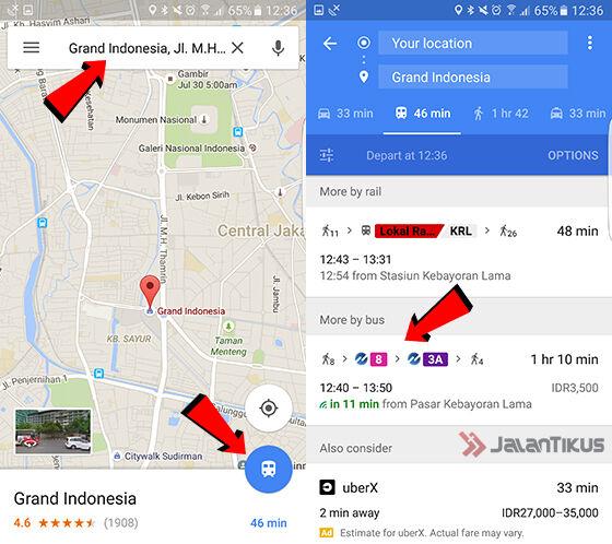 Google Maps Transjakarta 1