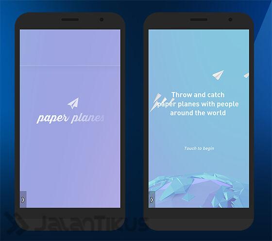 Tampilan Awal Paper Planes