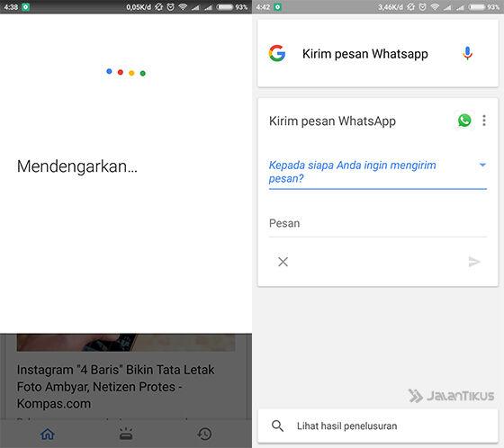 Langkah 2 - Cara Mengirim Pesan WhatsApp Tanpa Menyentuh Keyboard