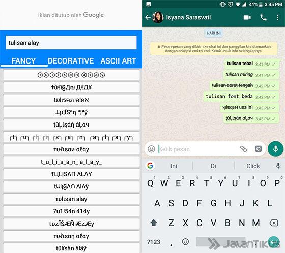 Cara Membuat Tulisan Alay di WhatsApp