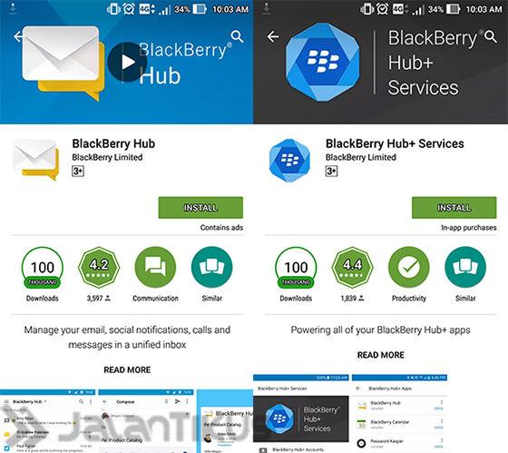 Install Dan Buka Blackberry Hub Android
