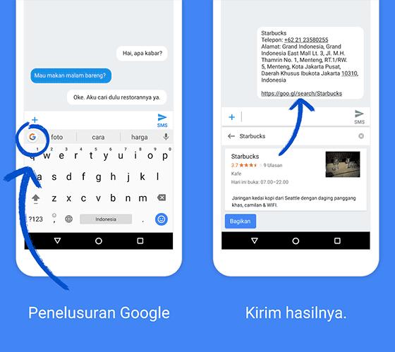 Dilengkapi Mesin Pencari Google
