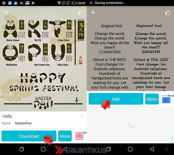 Mengubah Font Android 5