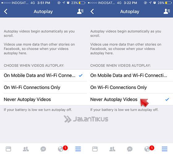 Mematikan Autoplay Video Facebook Di Iphone 4