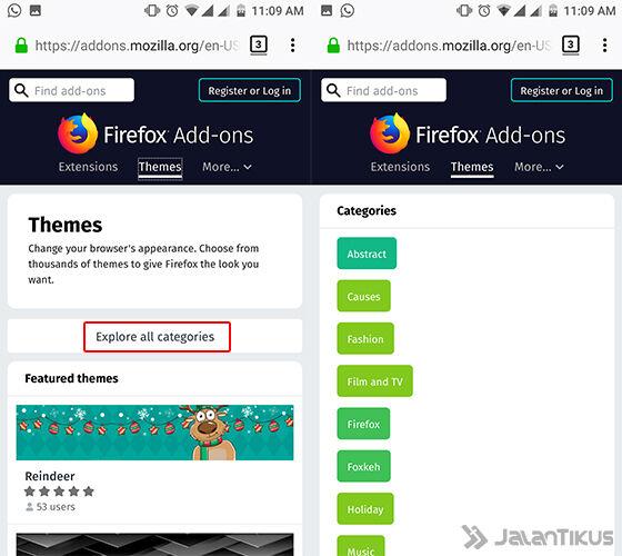 Cara Mengubah Tampilan Browser Android 2