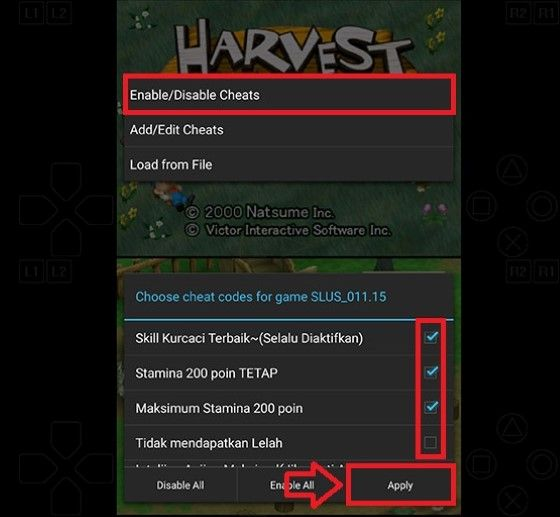 Cheat Harvest Moon Android 4 17f39