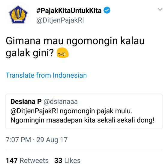 Tweet Kocak Ditjenpajakri 09