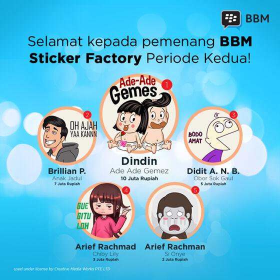 Bbm Sticker Contest Periode Kedua 01