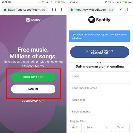 Cara Mendengarkan Spotify Tanpa Aplikasi 3 C459c