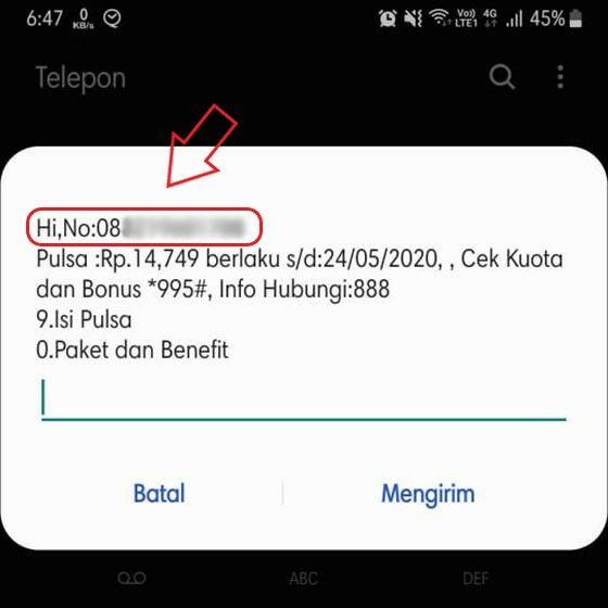 Cara Cek Nomor Smartfren GSM 4G LTE 09142