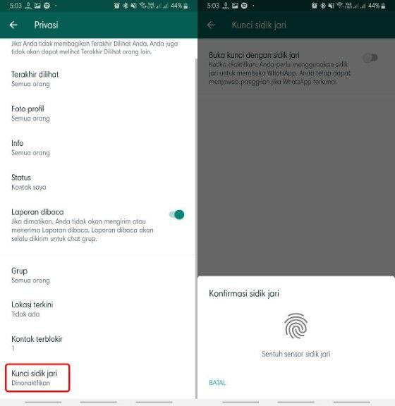 Mengaktifkan Fitur Fingerprint Whatsapp 5 8ba57
