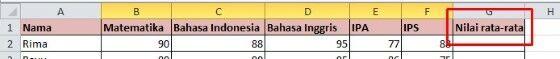 Cara Menghitung Rata Rata Ke Samping Di Excel 136ca