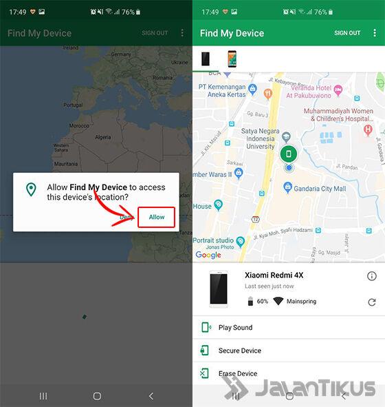cara melacak hp hilang android device manager 02