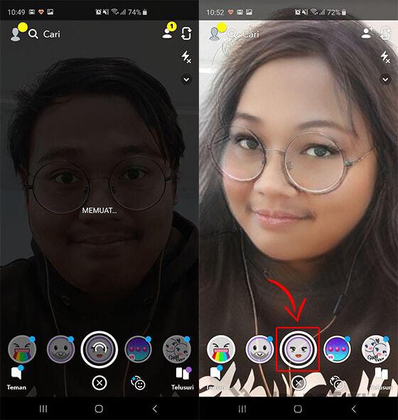 Snapchat Filter Cowok Jadi Cewek 04 B050c