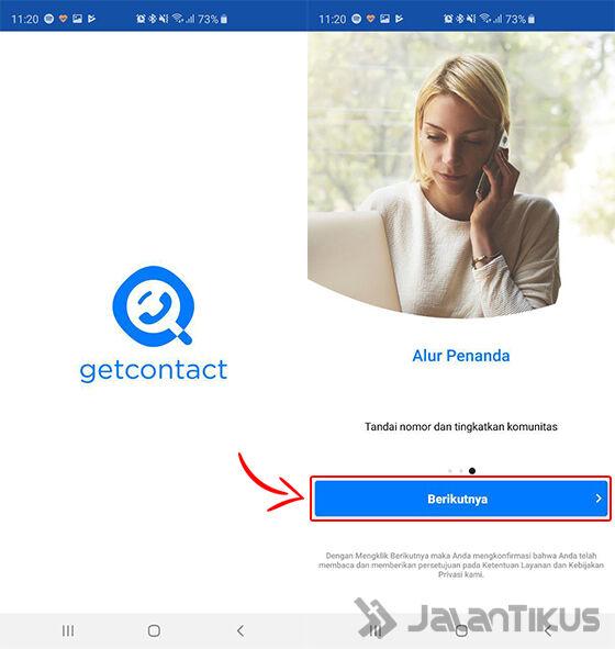 cara menggunakan get contact 01