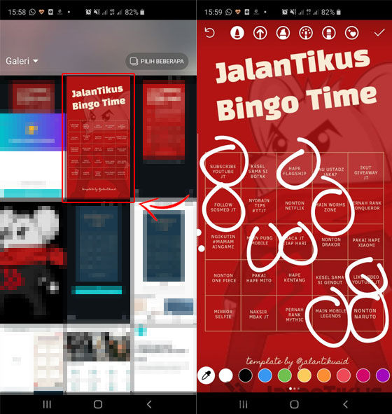 Cara Membuat Template Instagram Bingo 05 58704